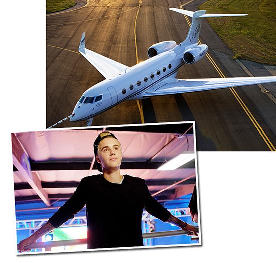 Justin Bieber e o jatinho Gulfstream G650: eu quero, eu compro! || Crédito: Getty Images / Divulgação