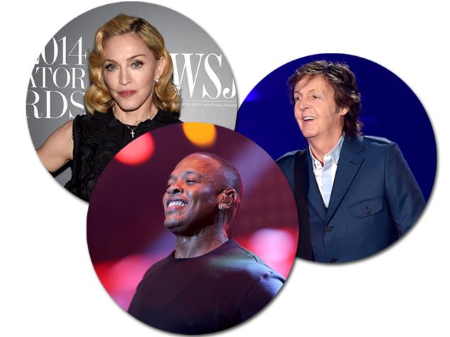 Madonna, Dr. Dre e Paul McCartney: top 3 dos músicos mais ricos do mundo ||Getty Images