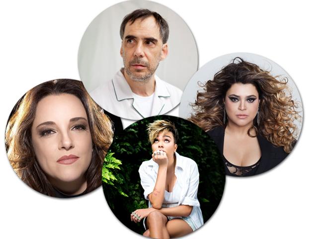 Arnaldo Antunes, Ana Carolina, Maria Gadú e Preta Gil, uns dos artistas participantes do concurso || Créditos: Divulgação