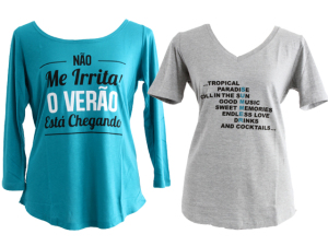 As t-shirts de verão de seis glamurettes para a Fillity. Aos detalhes