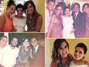 Vanessa Giácomo, gravidíssima, se casa com Giuseppe Dioguardi no Rio