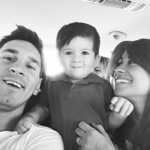 Messi, a mulher Antonella e o filho do casal, Thiago, são esperados na Bahia || Reprodução Instagram