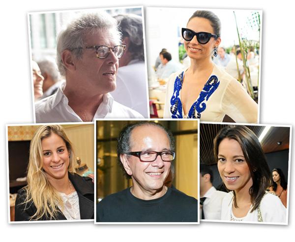 No sentido horário: Charlô Whately, Patricia Bonaldi, Manu Carvalho, David Bastos e Shantal Abreu