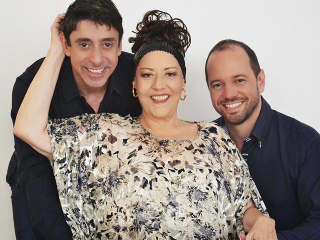 Cássio Scapin, Célia e Cássio Junqueira    Crédito: Divulgação