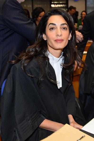 Amal Alamuddin nessa quarta, na European Court of Human Rights , em Estrasburgo, na França    Crédito: Getty Images