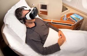 Companhia aérea oferece óculos de realidade virtual aos passageiros
