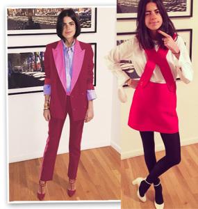 Pink is the new black: duas vezes rosa para Leandra Medine