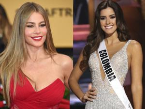 Sofia Vergara faz a festa com título de Miss Universo da Colômbia