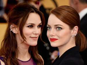 Os piercings para o red carpet de Emma Stone e Keira Knightley