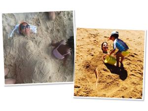 """Wanessa faz a Beyoncé e é """"enterrada"""" por filho na areia"""