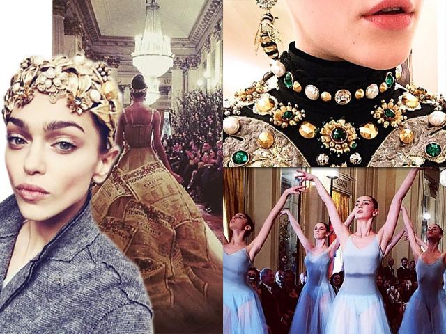 O desfile da Alta Moda 2015 da Dolce & Gabbana, em Milão || Crédito: Reprodução/Instagram