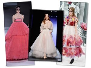 Em Paris, vestidos puro volume na passarela de Chanel, Valli e Gaultier