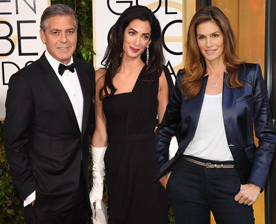 Casamento de George Clooney e Amal teve a aprovação da amiga Cindy || Créditos: Getty Images