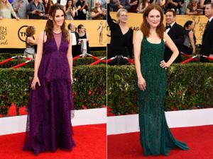 Roxo e verde reinam no tapete vermelho do SAG Awards