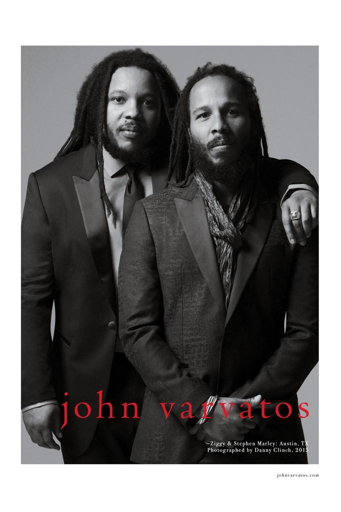 Stephen e Ziggy Marley para a coleçao de primavera/verão 2015 de John Varvatos    Créditos: Divulgação