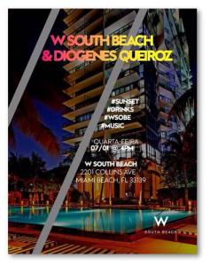 Diógenes Queiroz e W South Beach armam sunset party em Miami