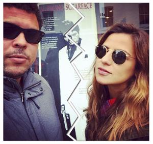Paula Morais e Ronaldo, realidades paralelas nas festas de fim de ano