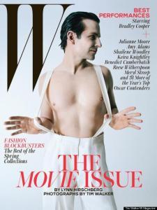 """""""W"""" coloca Bradley Cooper nu em sua edição especial de cinema"""