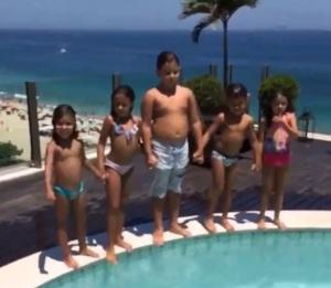 Ronaldo posta vídeo da bagunça da criançada em sua cobertura