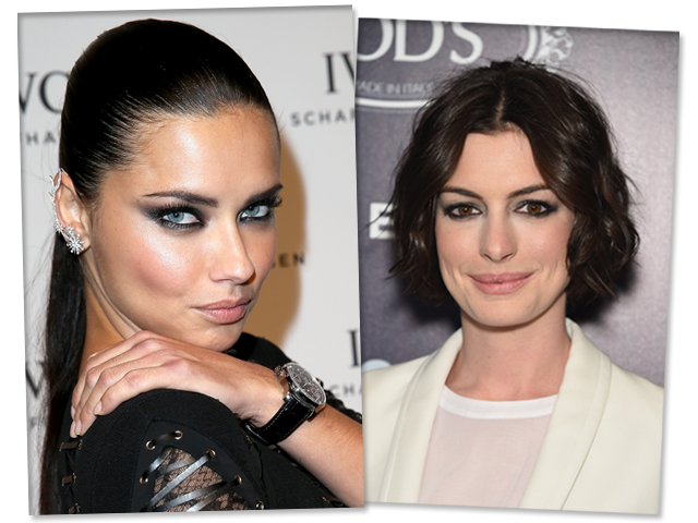 Adriana Lima e Anne Hathaway || Crédito: Getty Images