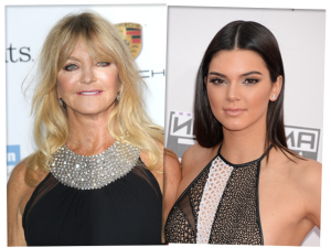 Tempo, tempo… Goldie Hawn e Kendall Jenner falam sobre juventude