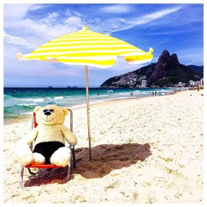 As aventuras de Sasha, urso de pelúcia de Felipe Veloso