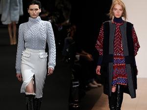 Uma das protagonistas do inverno 2015 da semana de moda de NY: a gola alta!