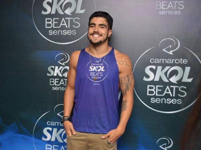 Caio Castro bateu cartão no Camarote Skol Beats Senses    Créditos: AgNews