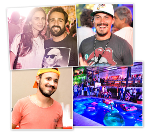 Glamurettes vibram na Bud Mansion com Super Bowl e barbecue