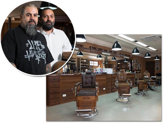 Marinho e Alberto Hiar e a nova barbearia no Bixiga, em São Paulo|| Créditos: Divulgação