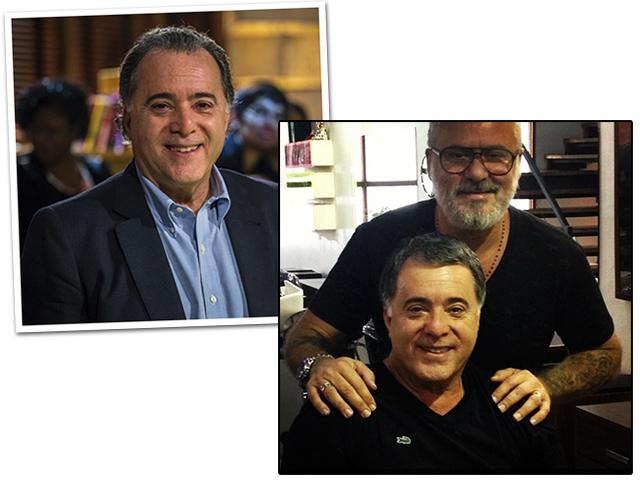 Tony Ramos antes e depois de passar pela Casa Mauro Freire || Créditos: Divulgação TV Globo / Reprodução Instagram