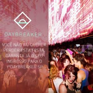 Daybreaker traz conceito diferente de atividade à pauliceia. Vem saber