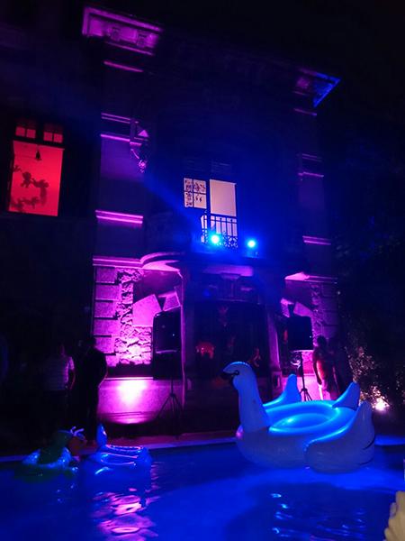 Ambiente do Baile da Arara