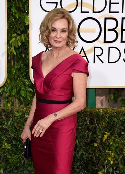 Jessica Lange em recente aparição no Globo de Ouro || Créditos: Getty Images