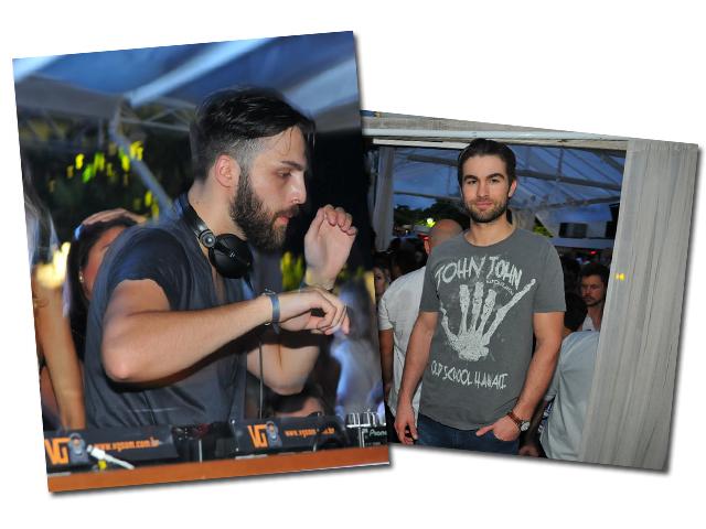 O DJ AN21 e Chace Crawford no Carnaval do Cafe de La Musique   Crédito: Cassiano de Souza/Divulgação
