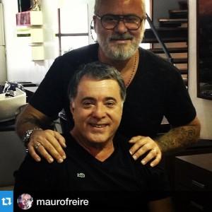 Tony Ramos aproveita passagem por São Paulo para visitar Mauro Freire