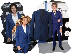 A cor mais quente: famosos aderem à tendência do terno azul