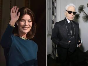 Karl Lagerfeld dá aquela força a Caroline de Mônaco para baile