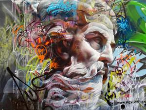 Dupla de grafiteiros espanhóis espalha deuses gregos pela Europa