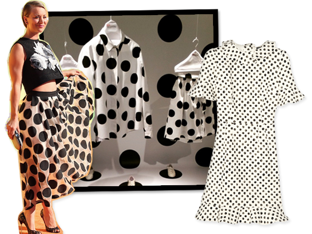 Kaley Cuoco, peças da Red Valentino e vestido Dolce & Gabbana    Crédito: Divulgação/ Getty Images/ Reprodução
