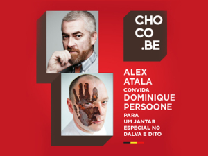 Alex Atala e Dominique Persoone em jantar do Festival Choco.be
