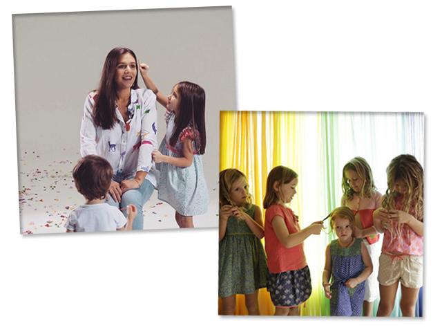 Margherita Missoni e peças de sua nova marca, a Margherita Kids    Crédito: Reprodução/ Instagram