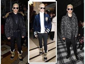 Platinado, Jared Leto está entre os mais hypados da Semana de Moda