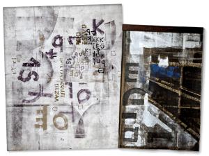 """Exposição """"Grafismo"""" traz expressões urbanas em lona de caminhão"""