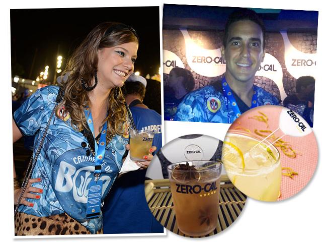 Foi um sucesso o Bar Zero-Cal no Camarote da BOA || Créditos: Juliana Rezende e Divulgação