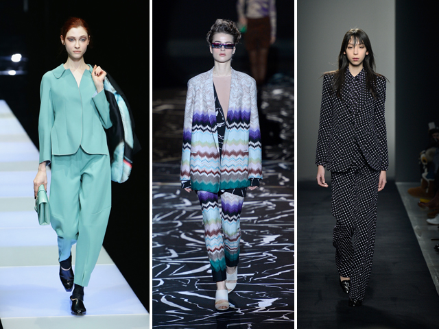 Armani, Missoni e Bottega Veneta || Crédito: Getty Images