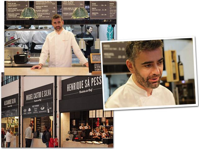 Alexandre  Ferreira no Mercado da Ribeira    Créditos: Beatriz Chicca