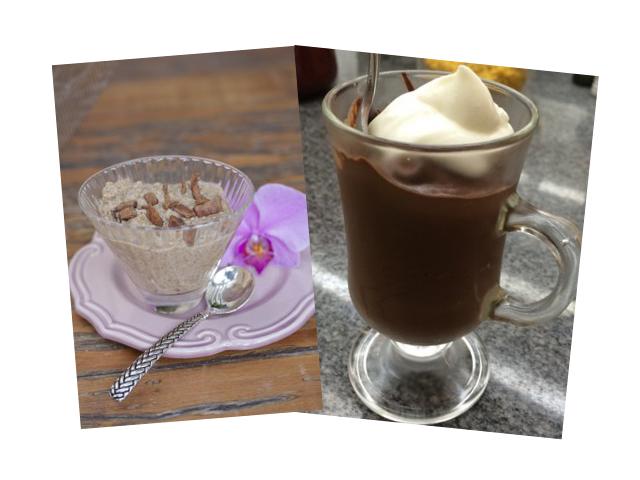 Arroz doce com couve flor e mousse de chocolate fit || Créditos: Divulgação