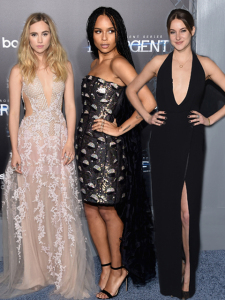 Zoom no look de Shailene Woodley, Zoe Kravitz e Suki Waterhouse