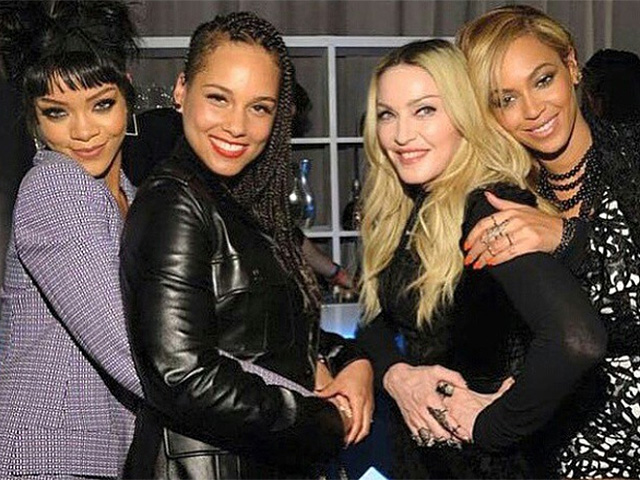 Rihanna, Madonna, Beyoncé    Créditos: Reprodução Instagram